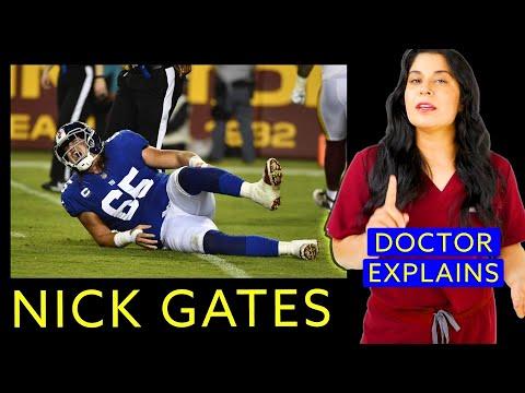 Update nick gates crazy broken leg injury video doctor explains