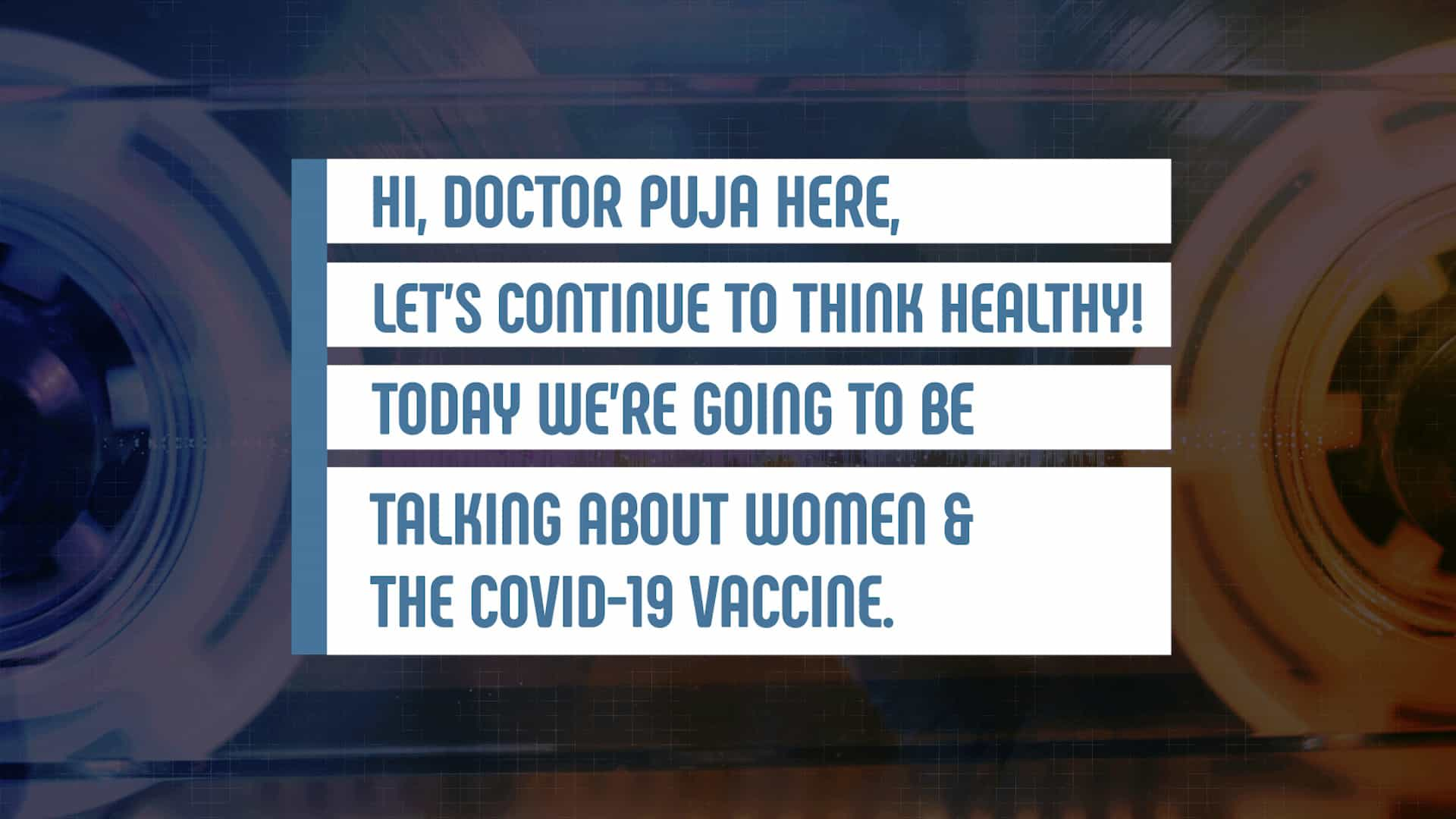Women and vaccines symptoms